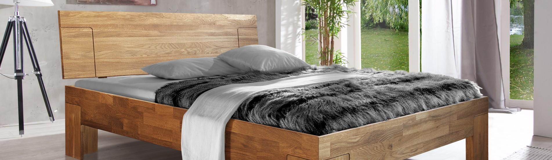 łóżko dębowe SARA