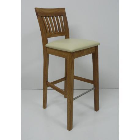 Krzesło barowe dębowe  JULIE (hoker)