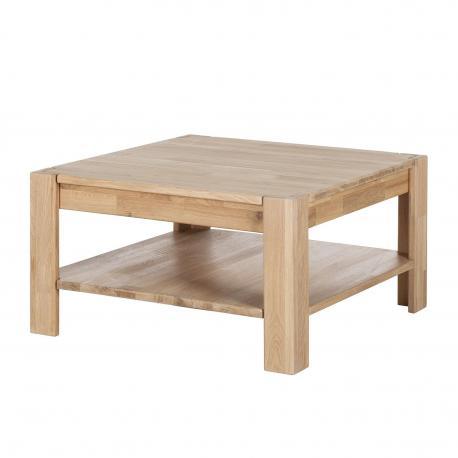 """Stolik kawowy """"CORNER"""" z półką rozmiar 70x70 cm"""