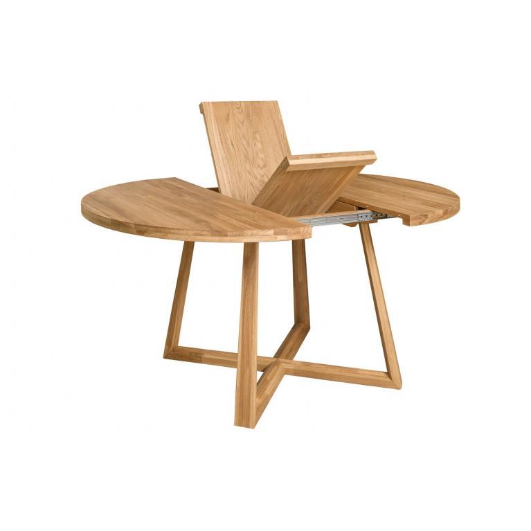 """Stół dębowy rozkładany """"Mörby round"""" 120 cm średnicy +40 cm dokładka"""