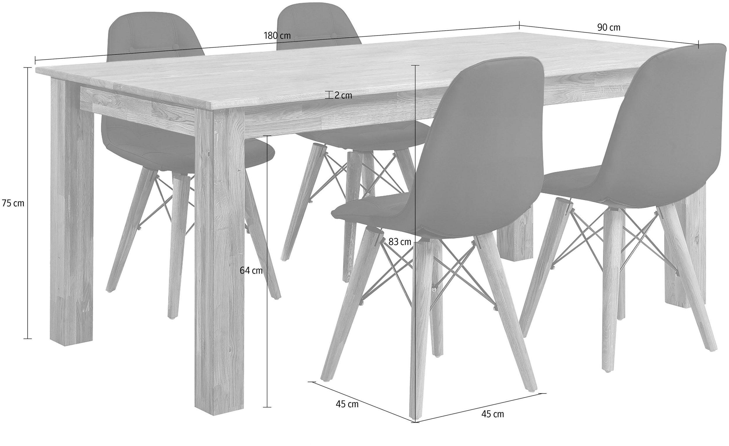 """Dane techniczne stołu """"NEVADA"""" 180x90 cm"""